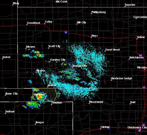 Radar Image for Severe Thunderstorms near Hooker, OK at 6/4/2020 3:02 PM CDT