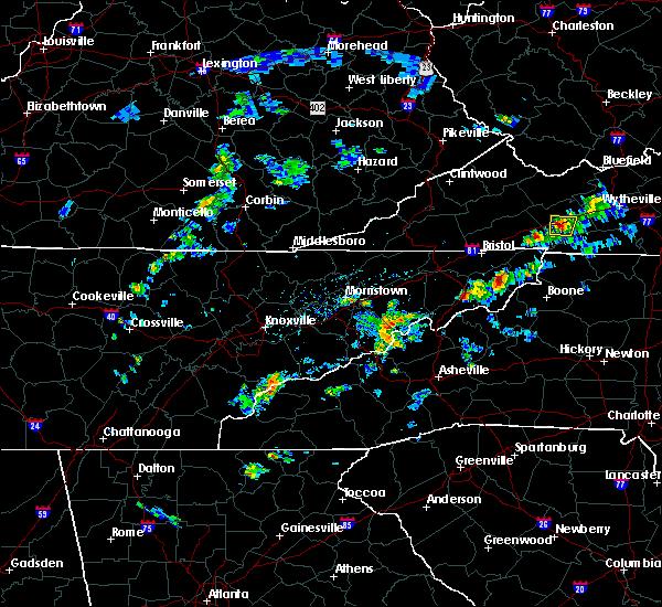 Radar Image for Severe Thunderstorms near Greeneville, TN at 6/4/2020 4:34 PM EDT