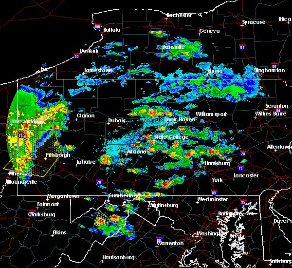 Radar Image for Severe Thunderstorms near Pillow, PA at 6/4/2020 4:38 PM EDT