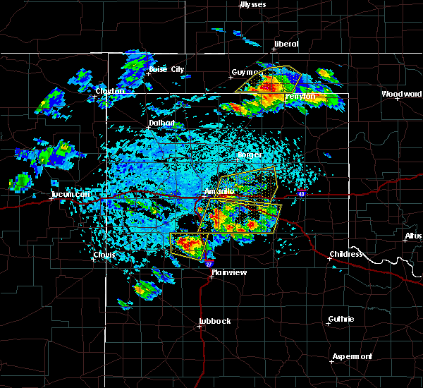 Radar Image for Severe Thunderstorms near Panhandle, TX at 6/4/2020 3:41 PM CDT