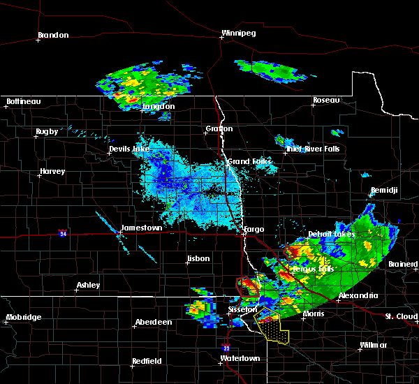 Radar Image for Severe Thunderstorms near Pelican Rapids, MN at 6/27/2015 8:44 PM CDT