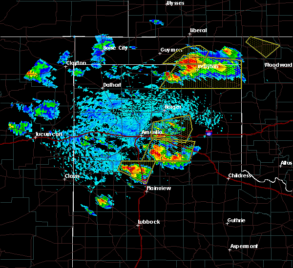 Radar Image for Severe Thunderstorms near Claude, TX at 6/4/2020 3:50 PM CDT