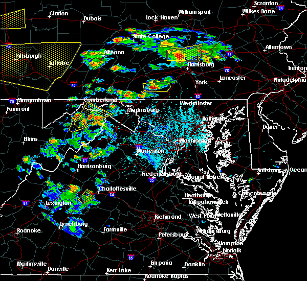 Radar Image for Severe Thunderstorms near Crozet, VA at 6/4/2020 4:53 PM EDT