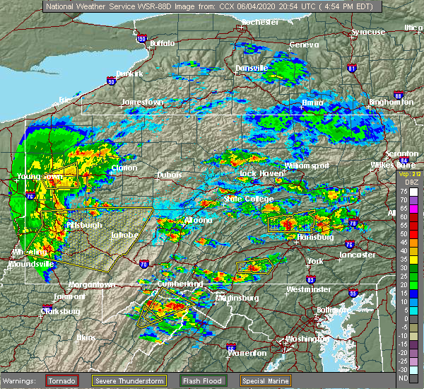Radar Image for Severe Thunderstorms near Dauphin, PA at 6/4/2020 5:02 PM EDT
