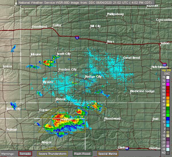 Radar Image for Severe Thunderstorms near Buffalo, OK at 6/4/2020 4:06 PM CDT