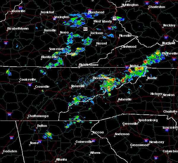 Radar Image for Severe Thunderstorms near Greeneville, TN at 6/4/2020 5:09 PM EDT