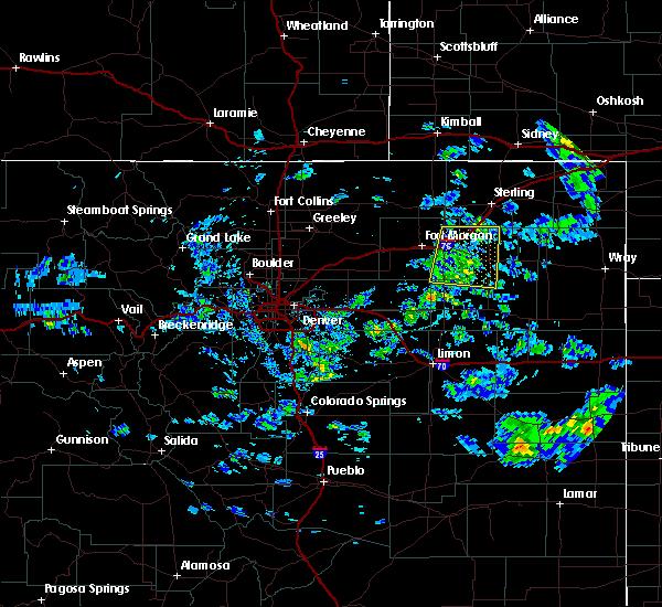 Radar Image for Severe Thunderstorms near Brush, CO at 6/4/2020 3:17 PM MDT
