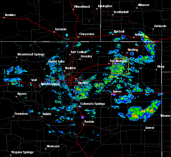 Radar Image for Severe Thunderstorms near Snyder, CO at 6/4/2020 3:17 PM MDT