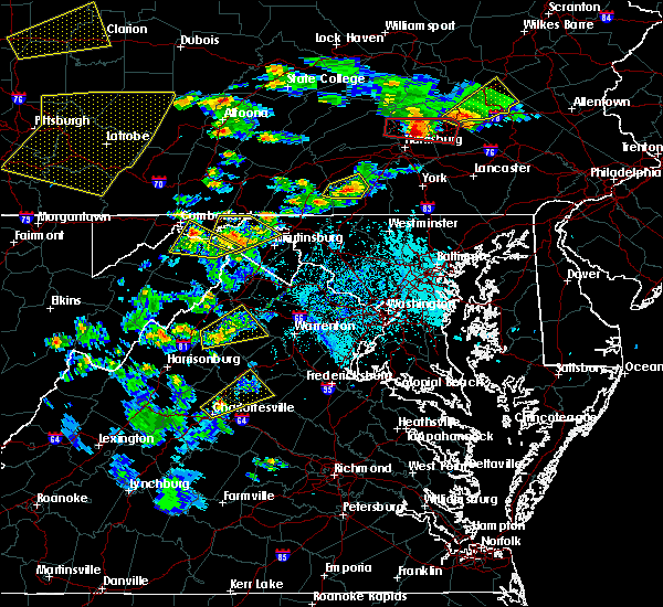 Radar Image for Severe Thunderstorms near Orange, VA at 6/4/2020 5:23 PM EDT