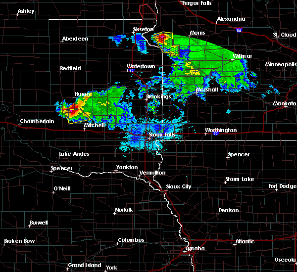 Radar Image for Severe Thunderstorms near Forestburg, SD at 6/27/2015 8:52 PM CDT