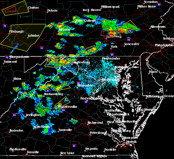 Radar Image for Severe Thunderstorms near Orange, VA at 6/4/2020 5:31 PM EDT
