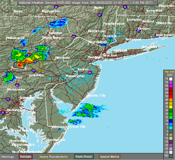 Radar Image for Severe Thunderstorms near Rehrersburg, PA at 6/4/2020 5:42 PM EDT
