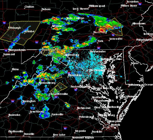 Radar Image for Severe Thunderstorms near Basye, VA at 6/4/2020 5:46 PM EDT
