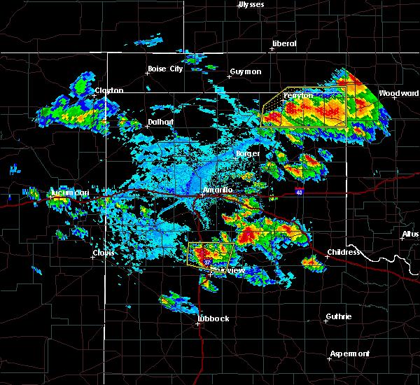Radar Image for Severe Thunderstorms near Follett, TX at 6/4/2020 4:48 PM CDT