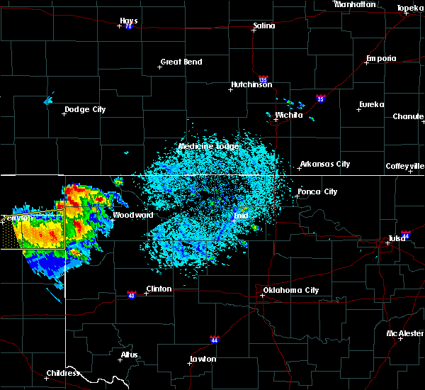 Radar Image for Severe Thunderstorms near May, OK at 6/4/2020 4:50 PM CDT