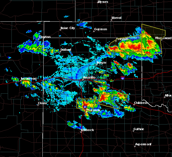 Radar Image for Severe Thunderstorms near Lakeview, TX at 6/4/2020 4:54 PM CDT