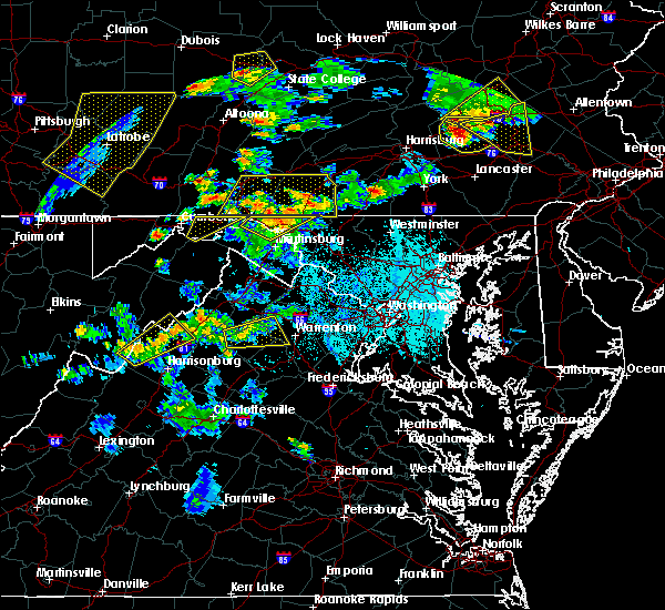 Radar Image for Severe Thunderstorms near Little Orleans, MD at 6/4/2020 5:58 PM EDT