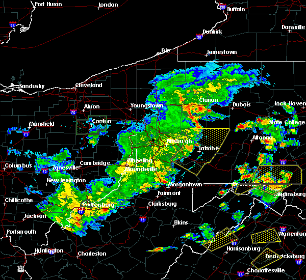 Radar Image for Severe Thunderstorms near Sutersville, PA at 6/4/2020 5:58 PM EDT