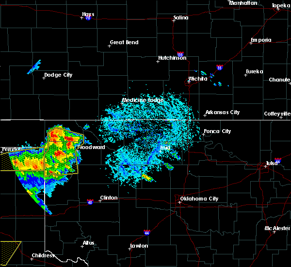 Radar Image for Severe Thunderstorms near May, OK at 6/4/2020 5:02 PM CDT