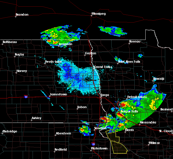 Radar Image for Severe Thunderstorms near Pelican Rapids, MN at 6/27/2015 8:58 PM CDT