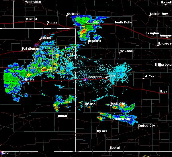 Radar Image for Severe Thunderstorms near Otis, CO at 6/4/2020 4:10 PM MDT