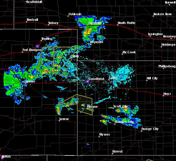Radar Image for Severe Thunderstorms near Horace, KS at 6/4/2020 4:11 PM MDT