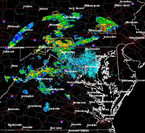 Radar Image for Severe Thunderstorms near Basye, VA at 6/4/2020 6:12 PM EDT