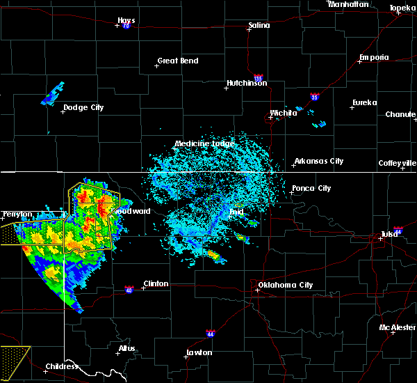 Radar Image for Severe Thunderstorms near May, OK at 6/4/2020 5:19 PM CDT