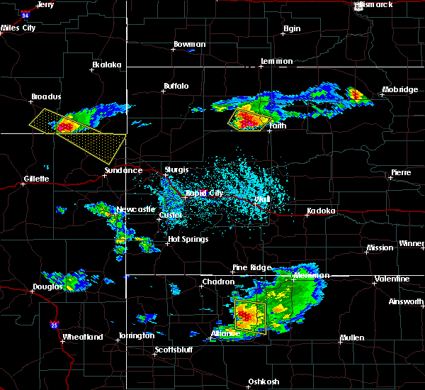 Radar Image for Severe Thunderstorms near Dupree, SD at 6/4/2020 4:19 PM MDT