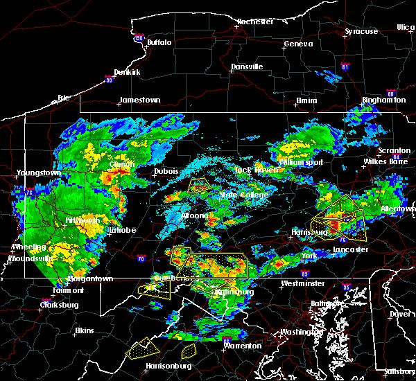 Radar Image for Severe Thunderstorms near Shippensburg University, PA at 6/4/2020 6:28 PM EDT