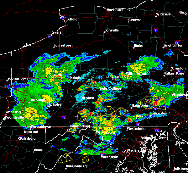 Radar Image for Severe Thunderstorms near Orrstown, PA at 6/4/2020 6:31 PM EDT