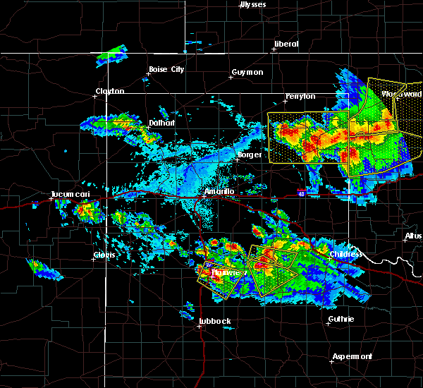 Radar Image for Severe Thunderstorms near Lipscomb, TX at 6/4/2020 5:30 PM CDT