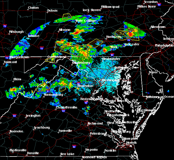 Radar Image for Severe Thunderstorms near Abbottstown, PA at 6/4/2020 6:34 PM EDT
