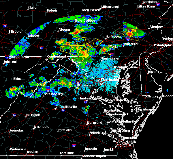 Radar Image for Severe Thunderstorms near Orrstown, PA at 6/4/2020 6:36 PM EDT