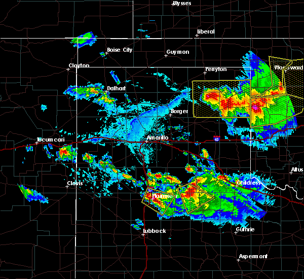 Radar Image for Severe Thunderstorms near Canadian, TX at 6/4/2020 5:41 PM CDT