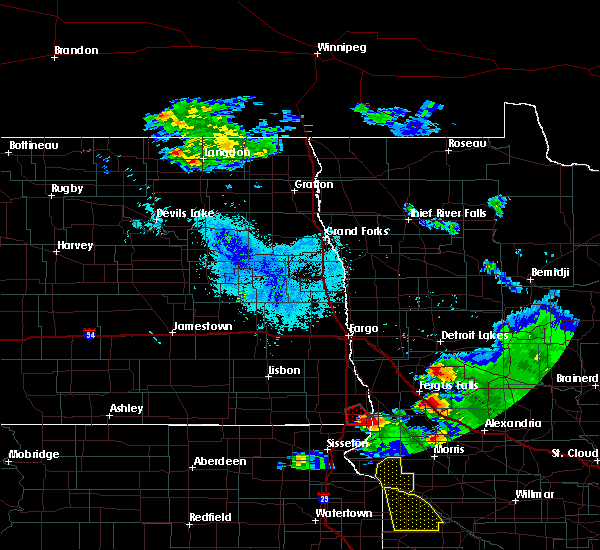 Radar Image for Severe Thunderstorms near Elbow Lake, MN at 6/27/2015 9:12 PM CDT