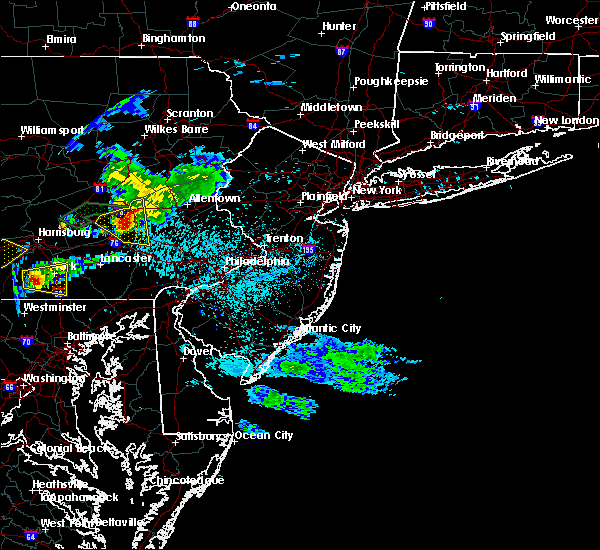 Radar Image for Severe Thunderstorms near Bechtelsville, PA at 6/4/2020 6:45 PM EDT