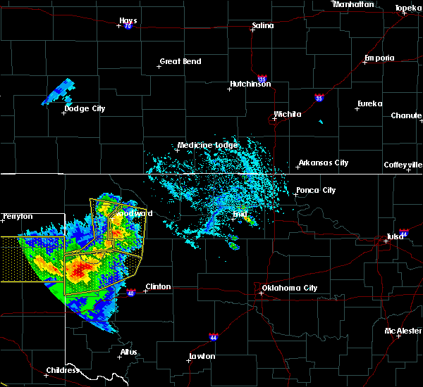 Radar Image for Severe Thunderstorms near Cheyenne, OK at 6/4/2020 5:52 PM CDT