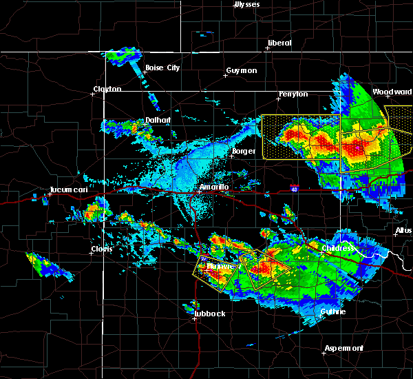 Radar Image for Severe Thunderstorms near Canadian, TX at 6/4/2020 5:53 PM CDT