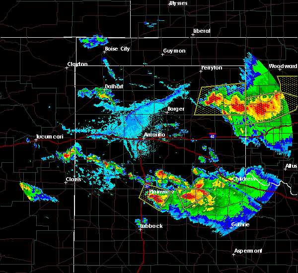 Radar Image for Severe Thunderstorms near Canadian, TX at 6/4/2020 6:01 PM CDT