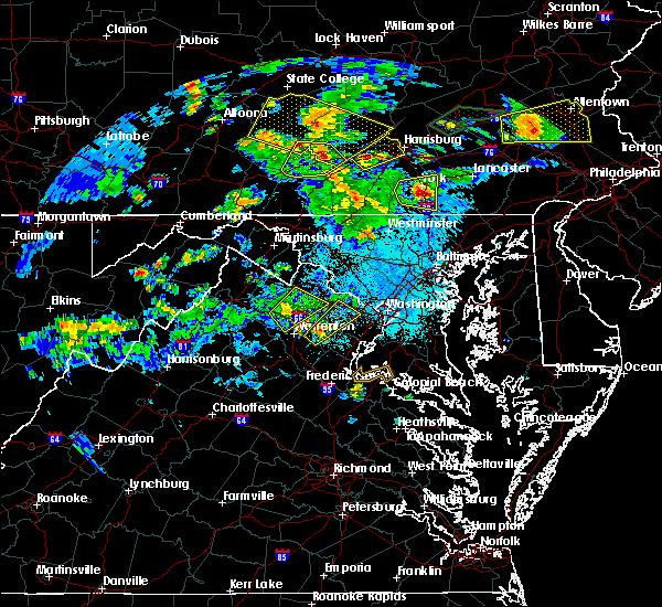 Radar Image for Severe Thunderstorms near Marshall, VA at 6/4/2020 7:07 PM EDT
