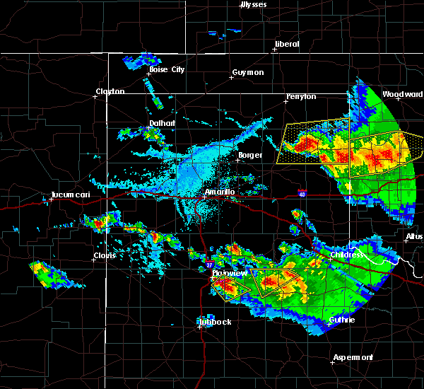 Radar Image for Severe Thunderstorms near Canadian, TX at 6/4/2020 6:08 PM CDT