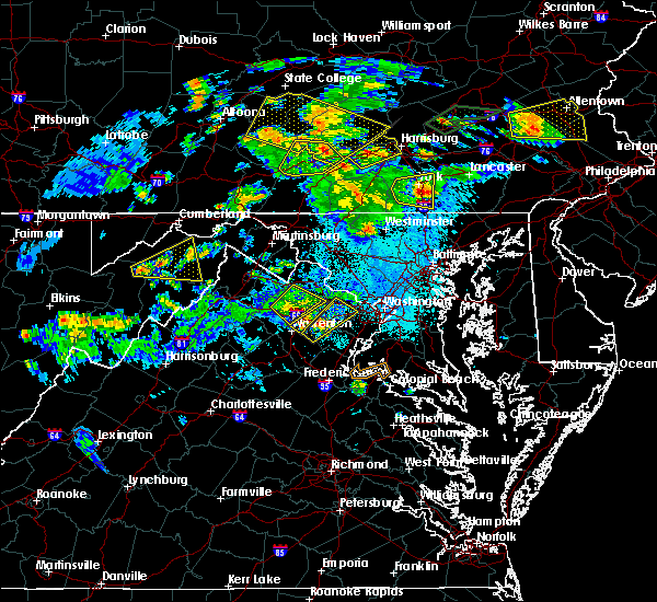 Radar Image for Severe Thunderstorms near Purcellville, VA at 6/4/2020 7:10 PM EDT