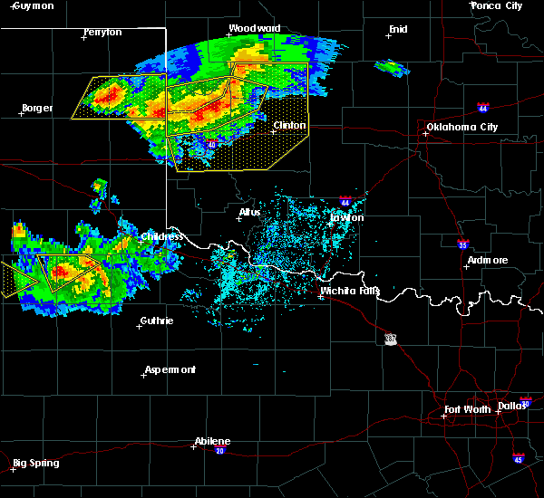 Radar Image for Severe Thunderstorms near Burns Flat, OK at 6/4/2020 6:09 PM CDT