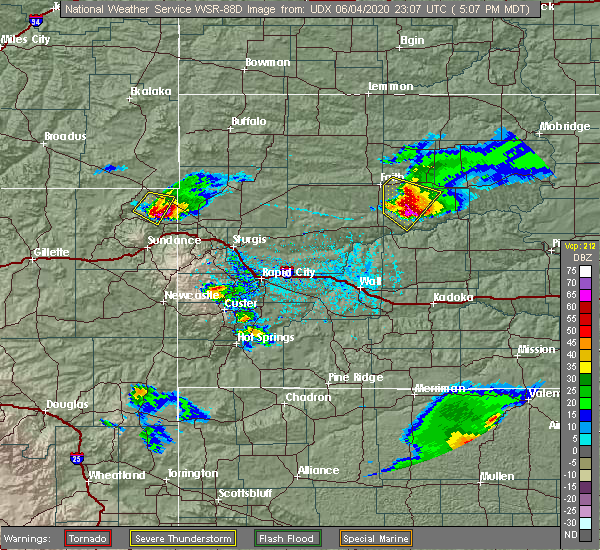 Radar Image for Severe Thunderstorms near Beulah, WY at 6/4/2020 5:09 PM MDT