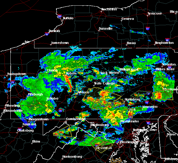 Radar Image for Severe Thunderstorms near South Philipsburg, PA at 6/4/2020 7:16 PM EDT