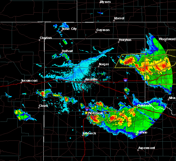 Radar Image for Severe Thunderstorms near Canadian, TX at 6/4/2020 6:16 PM CDT