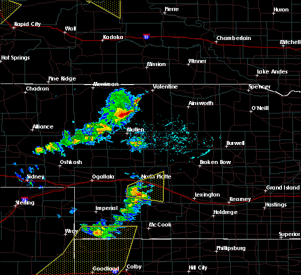 Radar Image for Severe Thunderstorms near Brownlee, NE at 6/4/2020 6:18 PM CDT