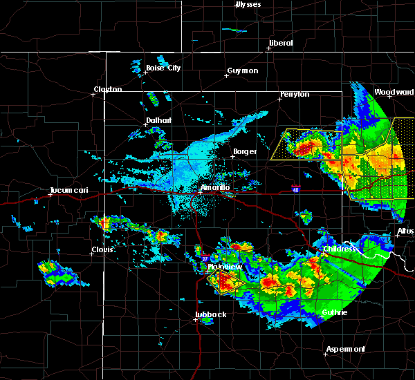 Radar Image for Severe Thunderstorms near Canadian, TX at 6/4/2020 6:27 PM CDT