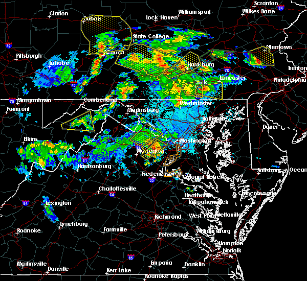 Radar Image for Severe Thunderstorms near Oak Grove, VA at 6/4/2020 7:31 PM EDT